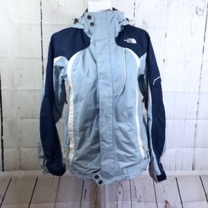 The North Face blue windbreaker jacket hoodie